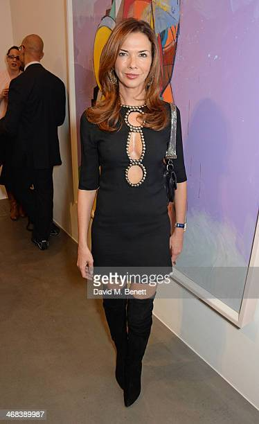 Heather Kerzner attends the opening reception at Simon Lee Gallery for an exhibition of new paintings by renowned American artist George Condo titled...
