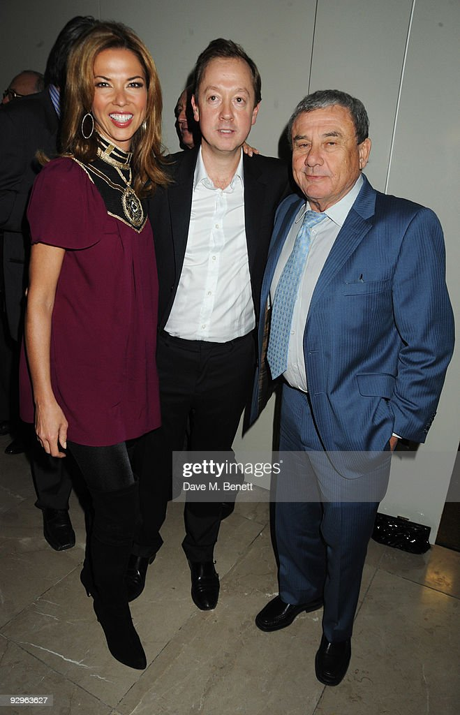 Heather Kerzner Geordie Greig and Sol Kerzner attend the London Evening Standard Influentials Party at Burberry on November 10 2009 in London England