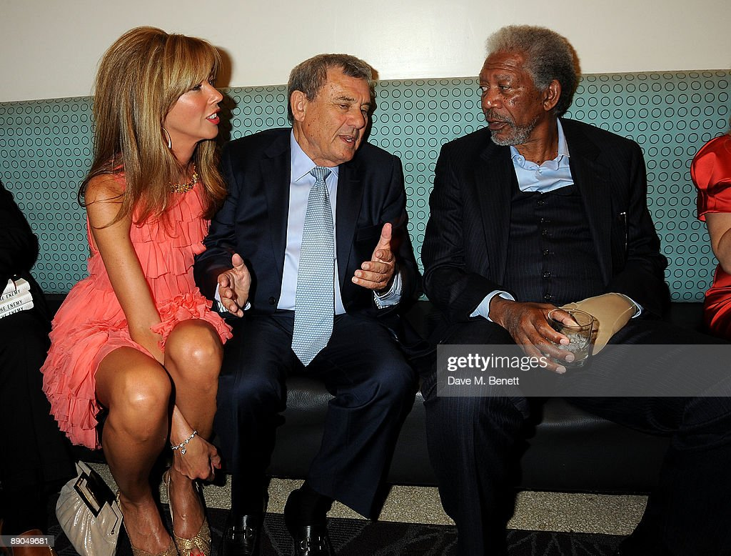 Heather Kerzner hotel owner Sol Kerzner and actor Morgan Freeman attend the Mandela Day Gala Dinner hosted by 46664 and the Nelson Mandela Foundation...