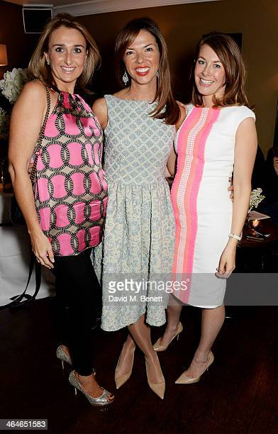 Heather Kerzner poses with Madderson London founders Helen Hughes and Sara Madderson attend the Madderson London Spring/Summer womenswear collection...