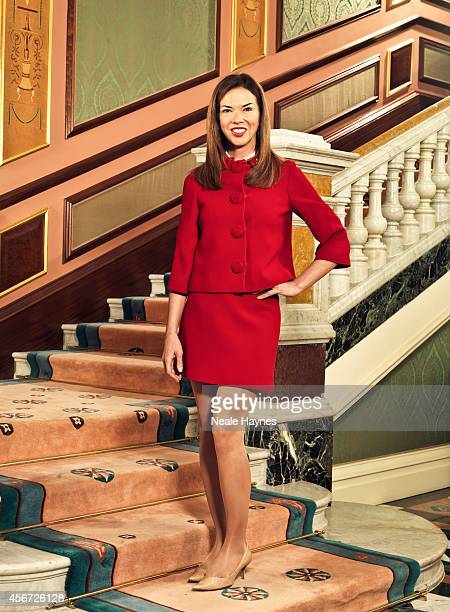 Heather Kerzner wife of businessman Sol Kerzner is photographed for ES magazine on March 21 2014 in London England