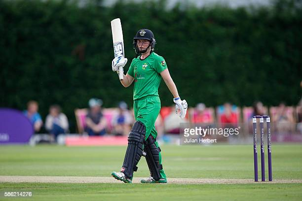 Heather Knight of Western Storm during the Kia Super League women's cricket match between Loughbrough Lightning and Western Storm at The Haslegrave...