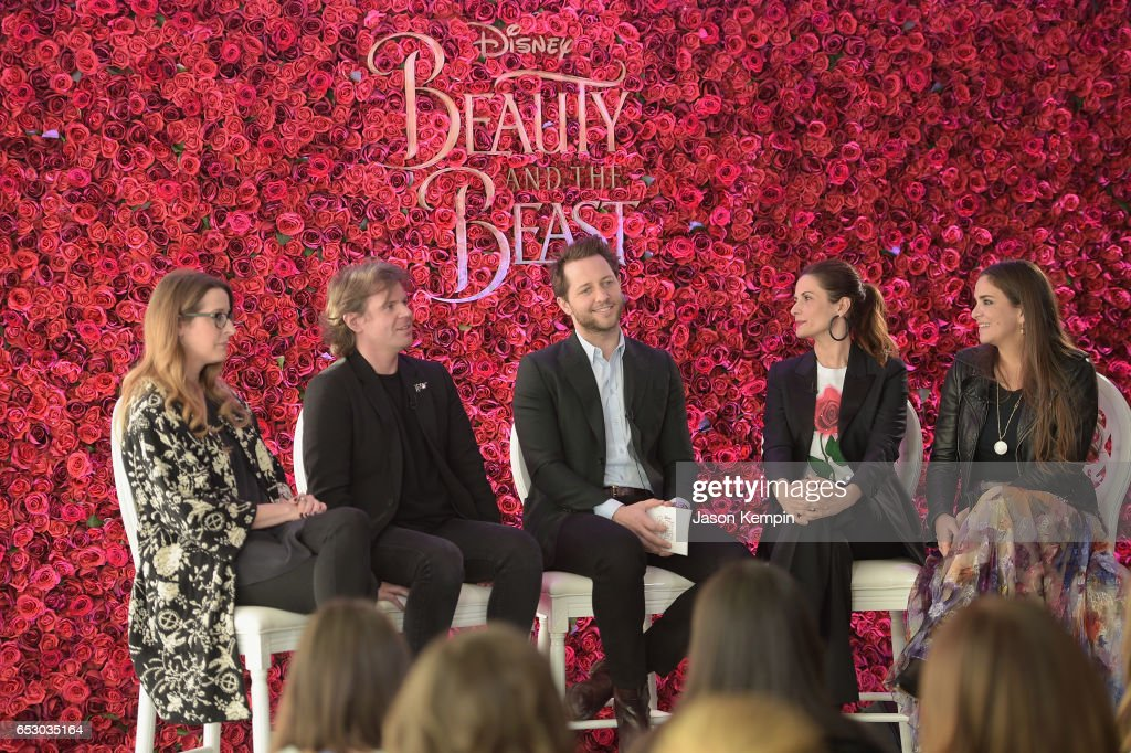 Heather Laing-Obstbaum, Christopher Kane, Derek Blasberg, Livia Firth and Laure Heriard Dubreuil were part of a panel discussion on storytelling through fashion inspired by Disney's live action movie Beauty and the Beast, including a new line by designer Christopher Kane, created in collaboration with sustainable brand consultancy, Eco-Age, and Disney. The collection goes on sale on March 16, 2017, at ChristopherKane.com and The Webster..