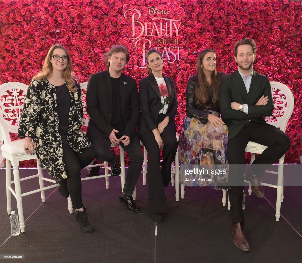 Heather Laing-Obstbaum, Christopher Kane, Livia Firth, Laure Heriard Durbreuil and Derek Blasbergwho were part of a panel discussion on storytelling through fashion inspired by Disney's live action movie Beauty and the Beast, including a new line by designer Christopher Kane, created in collaboration with sustainable brand consultancy, Eco-Age, and Disney. The collection goes on sale on March 16, 2017, at ChristopherKane.com and The Webster.