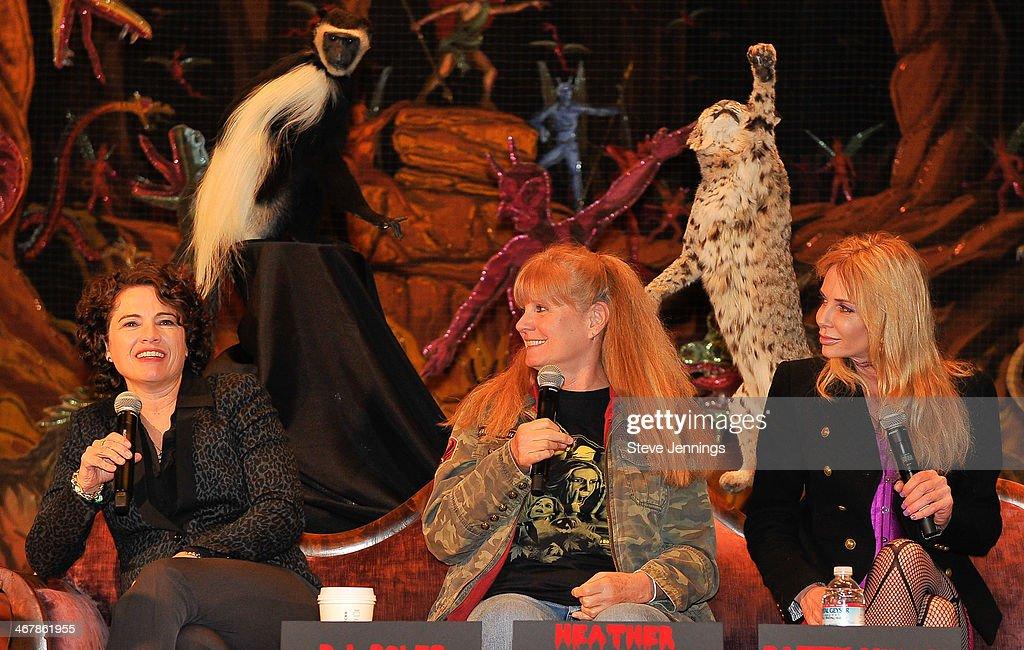 Heather Langenkamp PJ Soles and Patty Mullen on the 'Death Becomes Her' panel at Kirk Von Hammett's Fear FestEvil at Grand Regency Ballroom on...