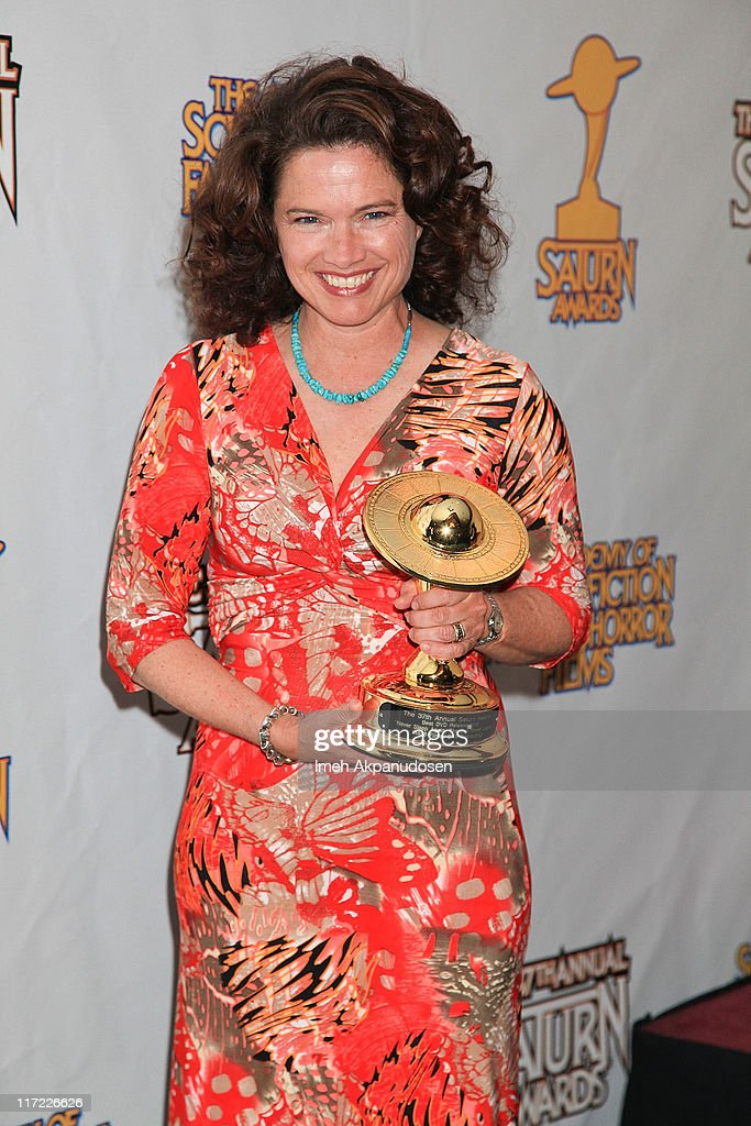 Heather Langenkamp poses in the Press Room at the 37th Annual Saturn Awards at The Castaway on June 23 2011 in Los Angeles California