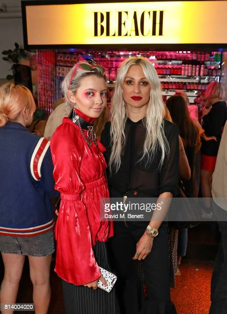 Heather Lines and Lou Teasdale attend the launch of Bleach London's new makeup and hair collections on July 13 2017 in London England