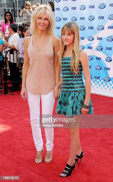 Heather Locklear and daughter Ava Elizabeth Sambora arrive at the American Idol Season 8 Finale held at the Nokia Theatre LA Live on May 20 2009 in...