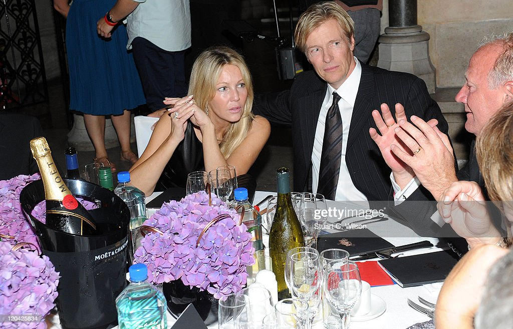 Heather Locklear and Jack Wagner attend the FitFlop Shooting Stars Benefit closing ball at the Royal Courts of Justice. The event was hosted by Samuel L Jackson to raise money for Make-A-Wish Foundation UK at Royal Courts of Justice, Strand on August 5, 2011 in London, England.