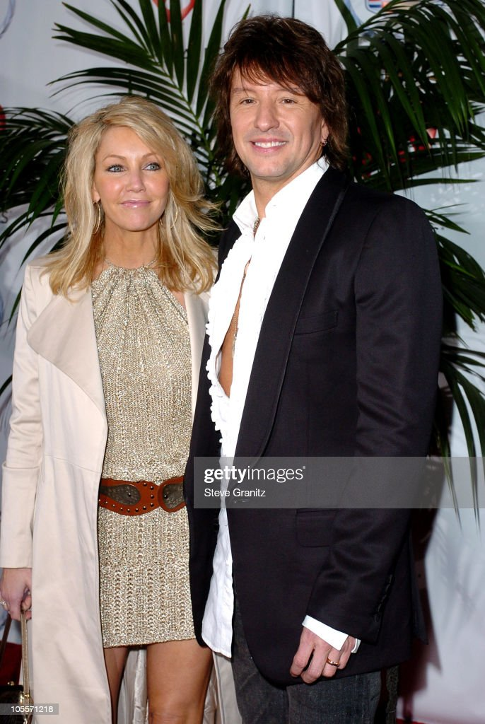 Heather Locklear and Richie Sambora during 2005 MusiCares Person Of The Year Brian Wilson Arrivals at Palladium in Hollywood California United States