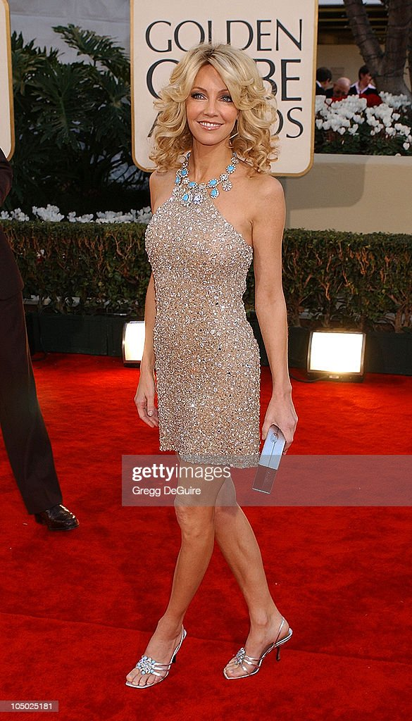 Heather Locklear arrives for the Golden Globe Awards at the Beverly Hilton Hotel in Beverly Hills, California January 20, 2002.