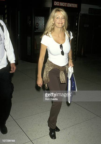 Heather Locklear during Heather Locklear and Richie Sambora Sighting at the Los Angeles International Airport May 17 1997 at Los Angeles...