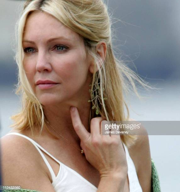 Heather Locklear during Hilary Duff and Heather Locklear on the Set of 'The Perfect Man' June 25 2004 at Brooklyn Promenade in New York City New York...