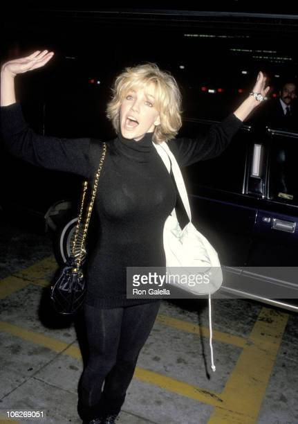 Heather Locklear during 'Larry King Live' Taping January 17 1990 at CNN Studios in Hollywood California United States