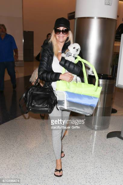 Heather Locklear is seen at LAX on April 19 2017 in Los Angeles California