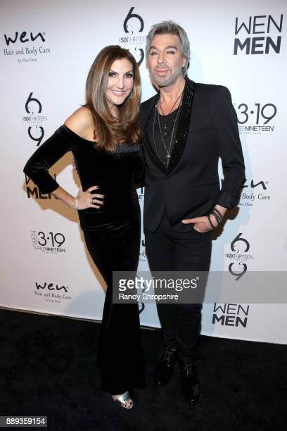 Heather McDonald and Chaz Dean arrive to Chaz Dean winter party 2017 benefiting Love is Louder on December 9 2017 in Los Angeles California