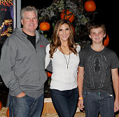Heather McDonald and her family attend the Rise of the Jack O' Lanterns 2nd annual VIP event at Descanso Gardens on October 4 2015 in La...
