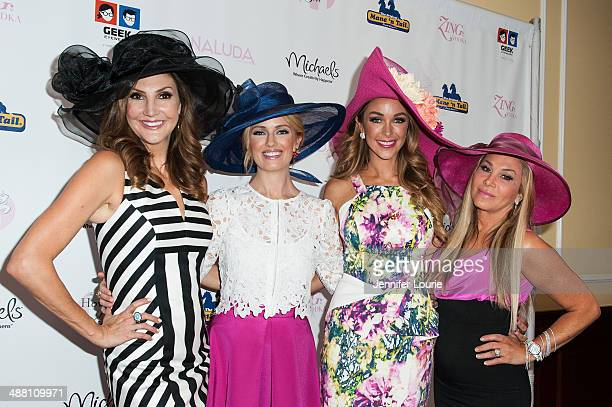 Heather McDonald Brooke Anderson Courtney Sixx and Adrienne Maloof arrive at the Kentucky Derby Celebration Ladies Luncheon at the Four Seasons Hotel...