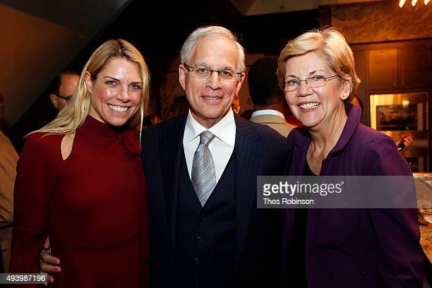 Heather McDowellLevin Adam Levin author and Elizabeth Warren United States Senator attend Consumer Advocate Adam Levin hosts reception and talk with...