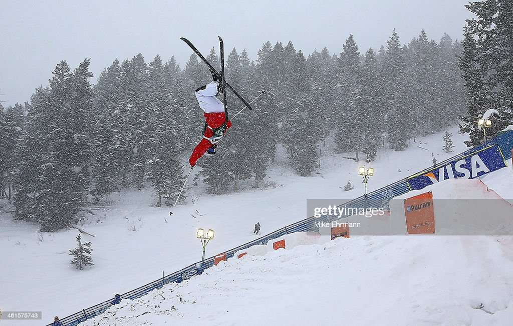 <a gi-track='captionPersonalityLinkClicked' href=/galleries/search?phrase=Heather+McPhie&family=editorial&specificpeople=4105079 ng-click='$event.stopPropagation()'>Heather McPhie</a> competes during qualifying for the Womens Moguls at the 2014 FIS Freestyle Ski World Cup at Deer Valley on January 9, 2014 in Park City, Utah.