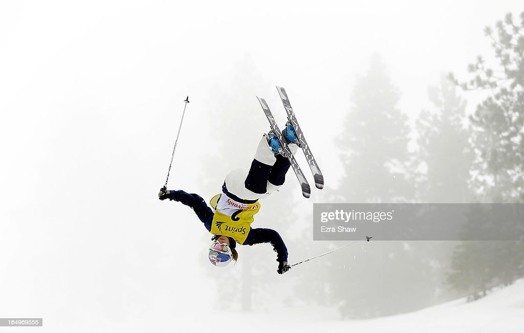 Heather McPhie competes in the Ladie's Moguls at the U.S. Freestyle Moguls National Championship at Heavenly Resort on March 29, 2013 in South Lake Tahoe, California. McPhie won the event.