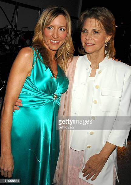 Heather Mills and Lindsay Wagner during 5th Annual TV Land Awards Backstage at Barker Hangar in Santa Monica California United States