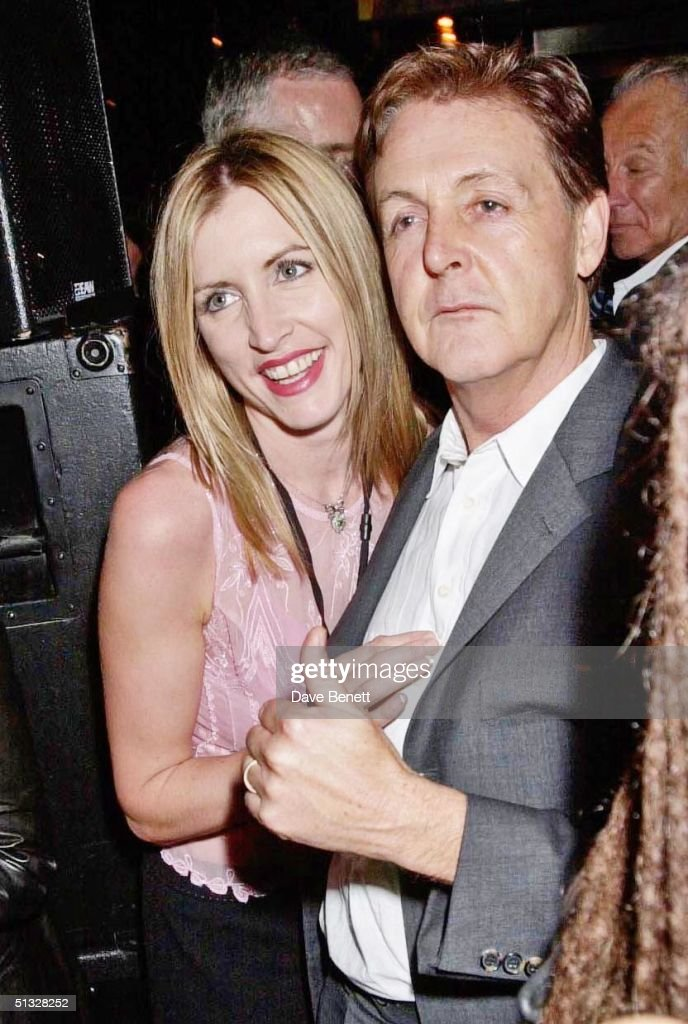 Heather Mills and <a gi-track='captionPersonalityLinkClicked' href=/galleries/search?phrase=Paul+McCartney&family=editorial&specificpeople=92298 ng-click='$event.stopPropagation()'>Paul McCartney</a> attend the Afterparty for 'The Concert For New York' at The Hudson Hotel on October 21, 2001 in New York.