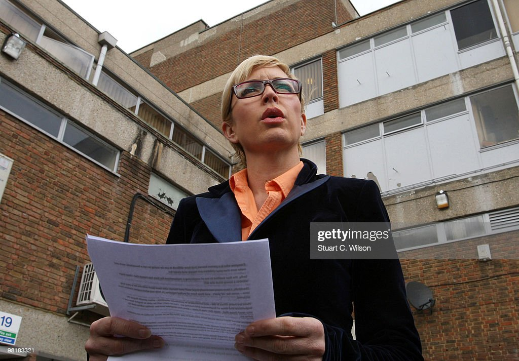 Heather Mills makes a statement after an employment tribunal on April 1, 2010 in Ashford, Kent.