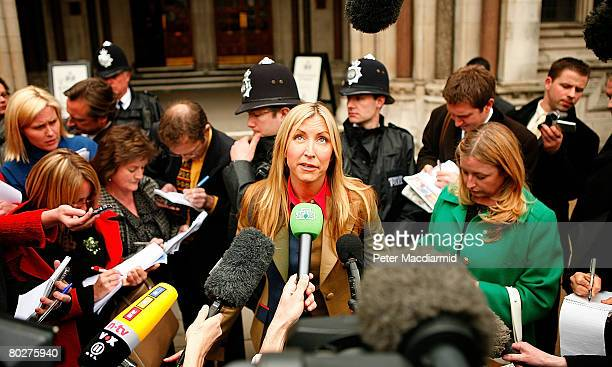 Heather Mills talks to reporters at the High Court on March 17 2008 in London England Heather Mills has been awarded 243m GBP in her divorce...
