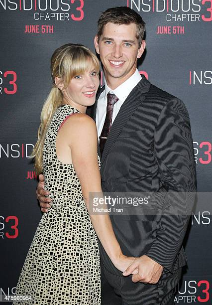 Heather Morris and husband Taylor Hubbell arrive at the Los Angeles premiere of 'Insidious Chapter 3' held at TCL Chinese Theatre IMAX on June 4 2015...