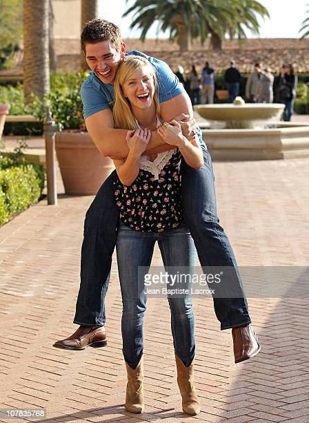 Heather Morris and Taylor Hubbell seen at Pelican Hill Resort on December 31 2010 in Newport Beach California