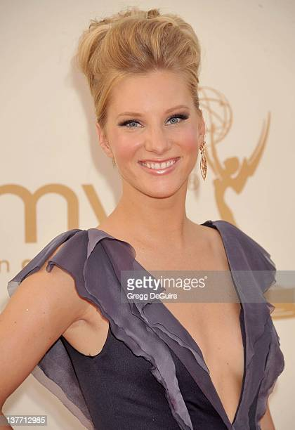 Heather Morris arrive at the Academy of Television Arts Sciences 63rd Primetime Emmy Awards at Nokia Theatre LA Live on September 18 2011 in Los...