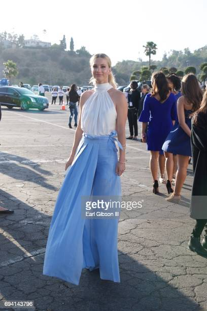 Heather Morris attends the Los Angeles Dodgers Foundation's 3rd Annual Blue Diamond Gala at Dodger Stadium on June 8 2017 in Los Angeles California