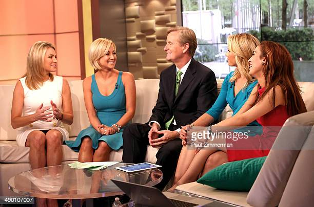 Heather Nauert Kellie Pickler Steve Doocy Elisabeth Hasselbeck Maria Molina visit 'FOX Friends' at FOX Studios on May 13 2014 in New York City