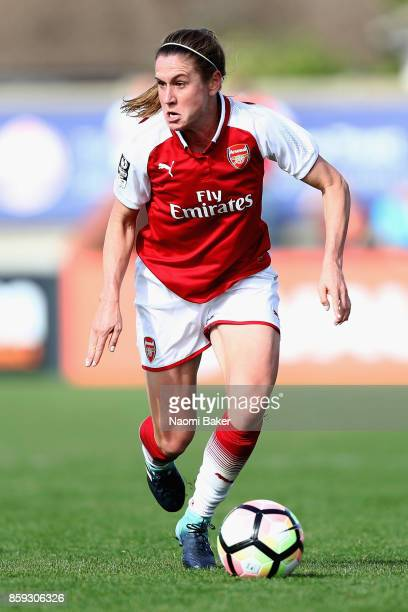 Heather O'Reilly in action during the Women's Super League 1 match between Arsenal and Bristol City at Meadow Park Boreham Wood on October 8 2017 in...