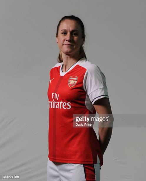 Heather O'Reilly of Arsenal Ladies during Arsenal Ladies Photocall at London Colney on February 7 2017 in St Albans England