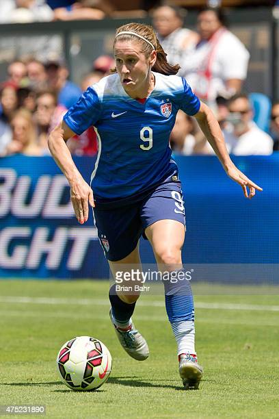 Heather O'Reilly of the United States moves the ball toward the goal against Ireland in the second half of their international friendly match on May...