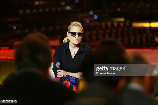 Heather Parisi attends 'Nemicamatissima' tv show presentation at Studio 5 of Cinecitta on November 24 2016 in Rome Italy