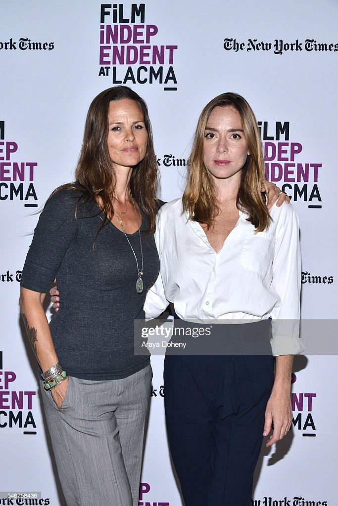 Heather Rae and Sian Heder attend the Film Independent at LACMA 'Tallulah' screening and QA at Bing Theatre At LACMA on July 12 2016 in Los Angeles...