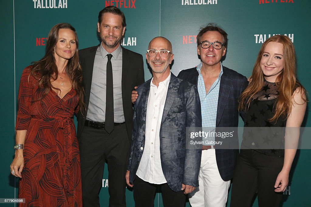 Heather Rae David Newson Russell Levine Chris Columbus and Eleanor Columbus attend Netflix Hosts a Special Screening of 'Tallulah' at Landmark...