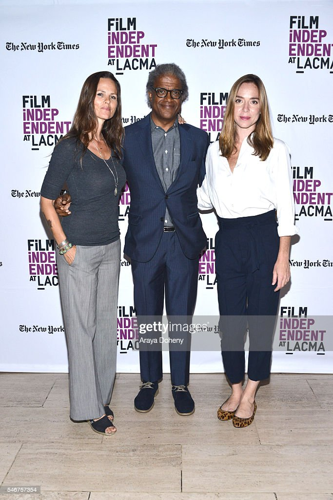Heather Rae Elvis Mitchell and Sian Heder attend the Film Independent at LACMA 'Tallulah' screening and QA at Bing Theatre At LACMA on July 12 2016...