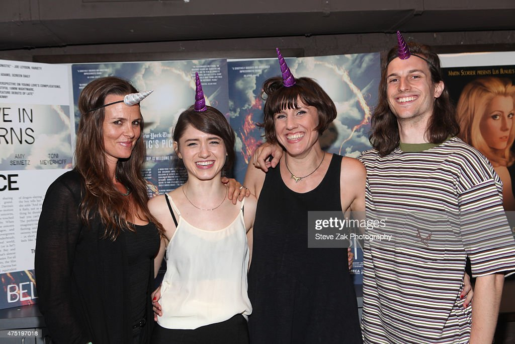Heather Rae Natalia Dyer Leah Meyerhoff and Peter Vack attend 'I Believe In Unicorns' New York premiere at IFC Center on May 29 2015 in New York City