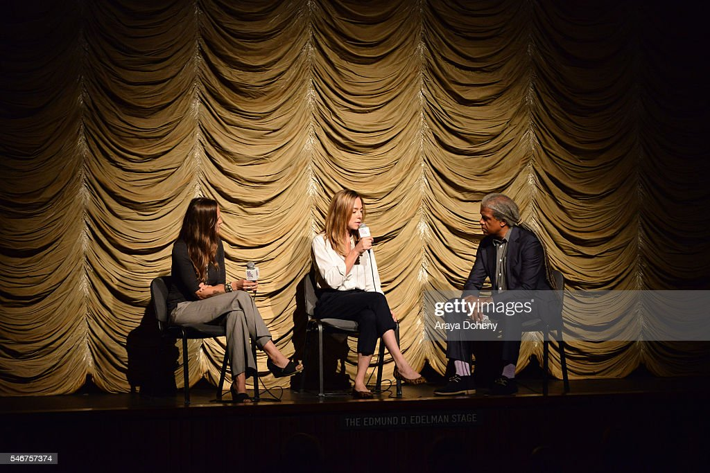 Heather Rae Sian Heder and Elvis Mitchell attend the Film Independent at LACMA 'Tallulah' screening and QA at Bing Theatre At LACMA on July 12 2016...