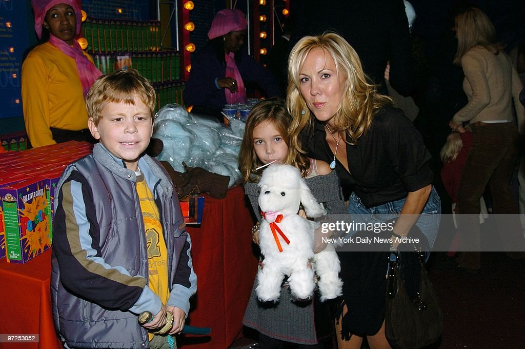 Heather Randall, Tony Randall's widow, takes children Jefferson and Julia to the Big Apple Circus' opening night gala benefit in Lincoln Center's Damrosch Park. Proceeds from the event benefited the circus' outreach programs for children with physical and economic disadvantages.