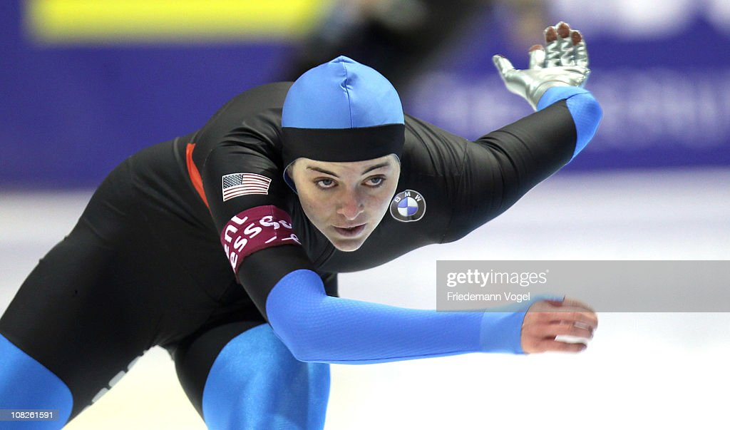 <a gi-track='captionPersonalityLinkClicked' href=/galleries/search?phrase=Heather+Richardson&family=editorial&specificpeople=5762781 ng-click='$event.stopPropagation()'>Heather Richardson</a> of the USA competes in the 1000m race during the second day of the ISU World sprint speed skating Championships on January 23, 2011 in Heerenveen, Netherlands.