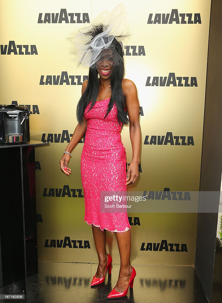 Heather Small attends the Lavazza marquee during Oaks Day at Flemington Racecourse on November 7, 2013 in Melbourne, Australia.