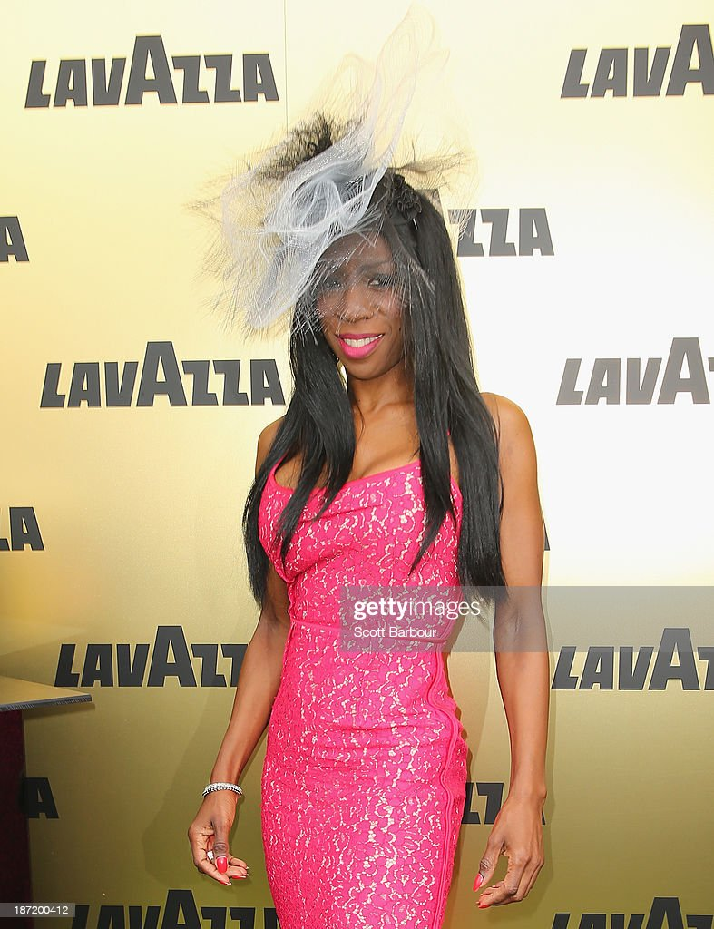 <a gi-track='captionPersonalityLinkClicked' href=/galleries/search?phrase=Heather+Small&family=editorial&specificpeople=2168416 ng-click='$event.stopPropagation()'>Heather Small</a> attends the Lavazza marquee during Oaks Day at Flemington Racecourse on November 7, 2013 in Melbourne, Australia.