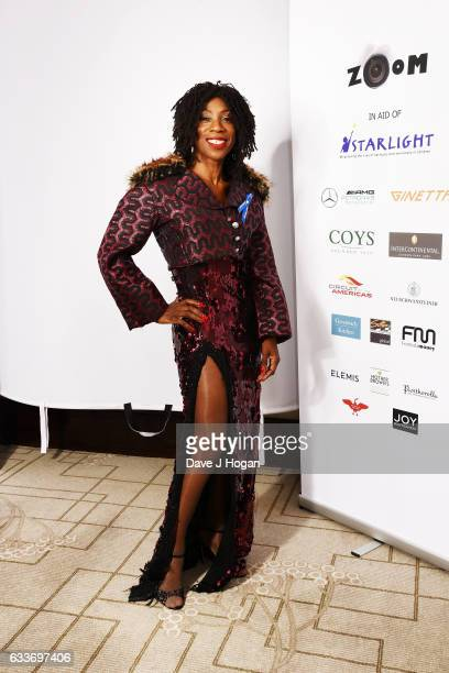 Heather Small attends the Zoom F1 Charity auction on February 3 2017 in London United Kingdom