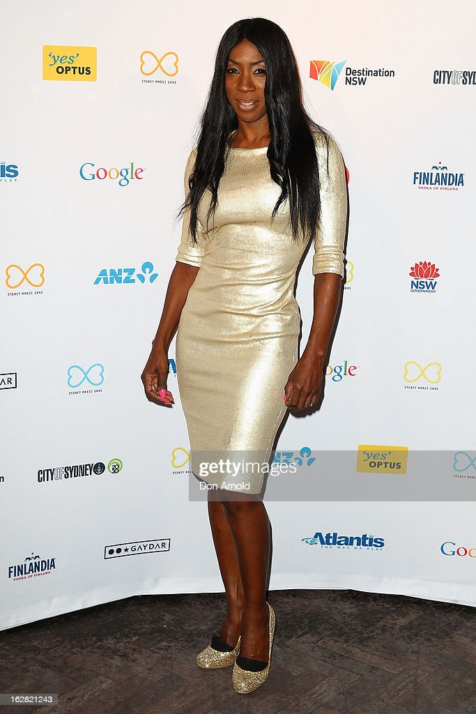 Heather Small poses at a Sydney Mardis Gras VIP party photo call at Kit and Kaboodle bar on February 28, 2013 in Sydney, Australia.