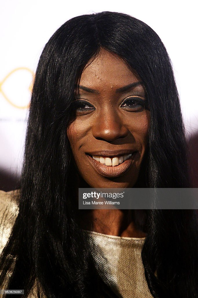Heather Small poses during a Sydney Mardis Gras VIP photo call at the Kit and Kaboodle Bar on February 28, 2013 in Sydney, Australia.